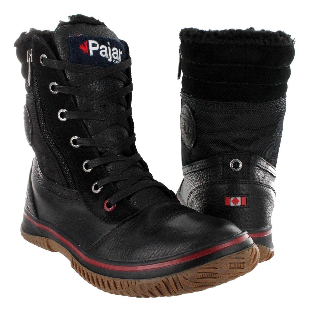 Pajar winter TROOPER black boots waterproof Men's mid TlJF1Kc