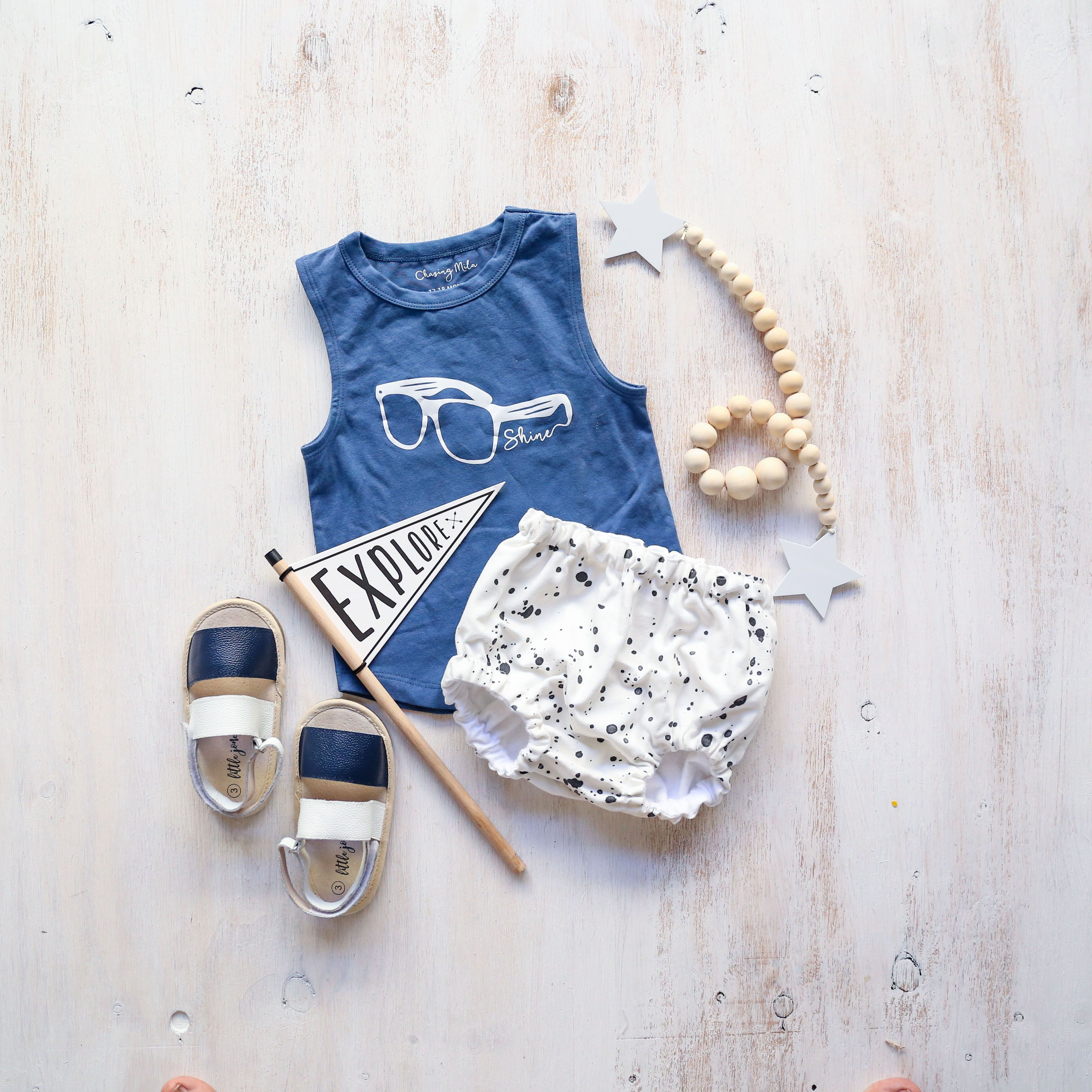 BEST baby fashion flatlay baby boy outfit with our navy