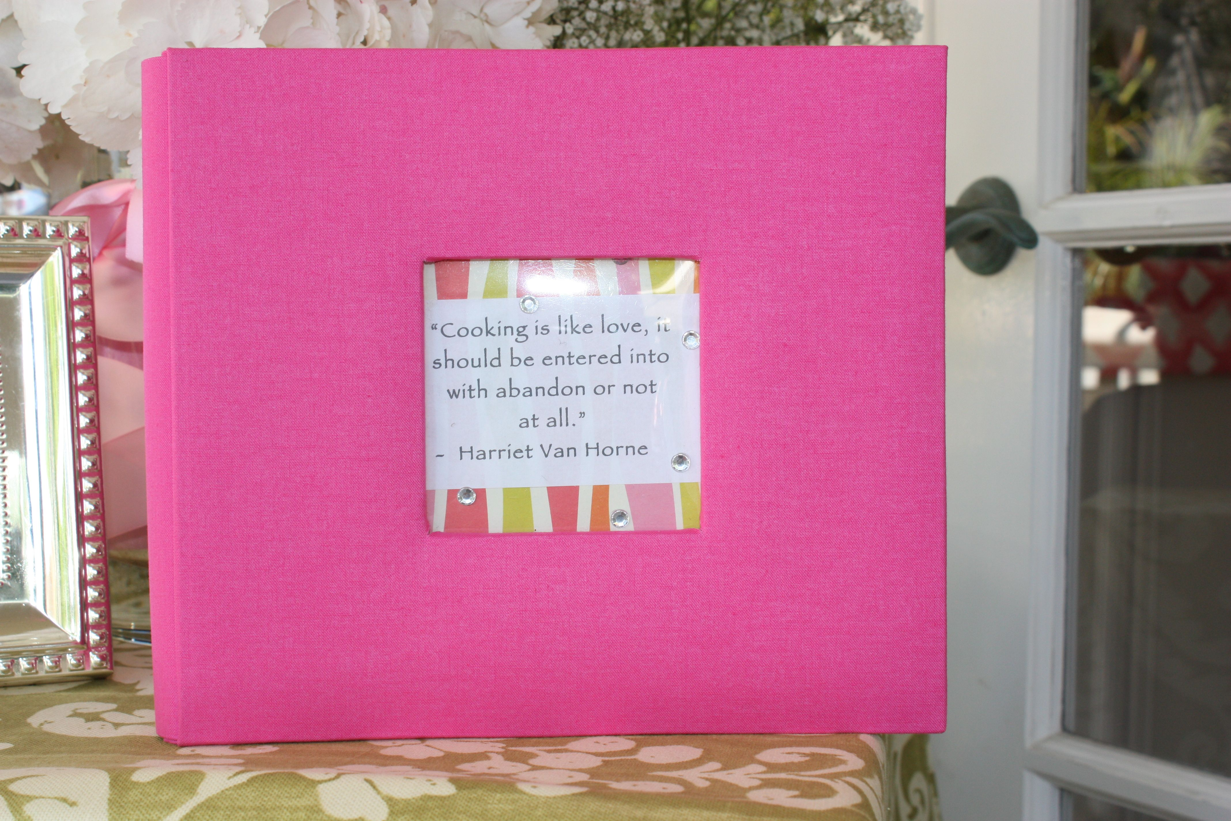bridal shower - recipe book filled with recipes from each guest ...