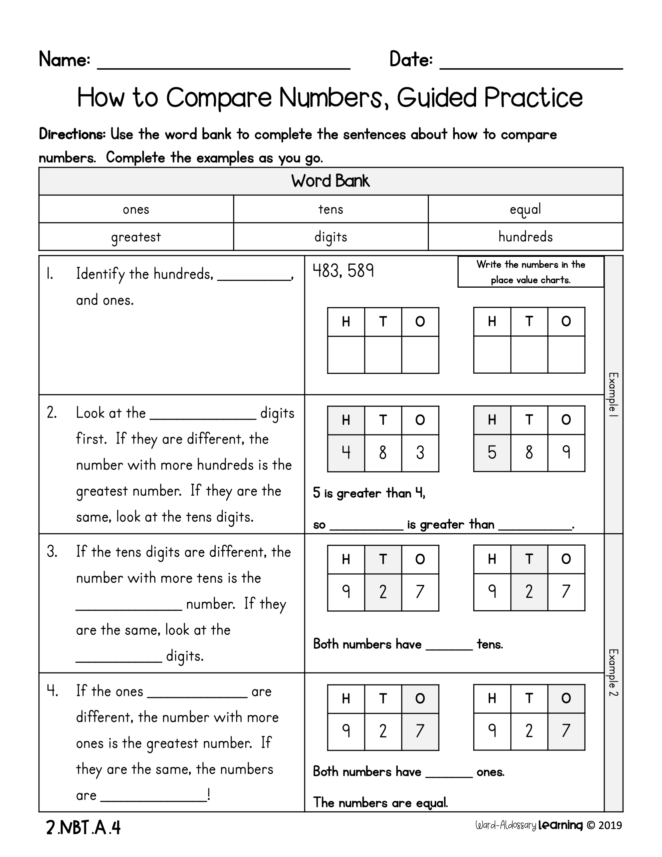 Finding Unit Rate Worksheet