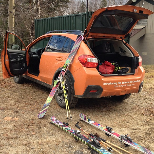 Nordica skis and the XV Crosstrek  The perfect combo