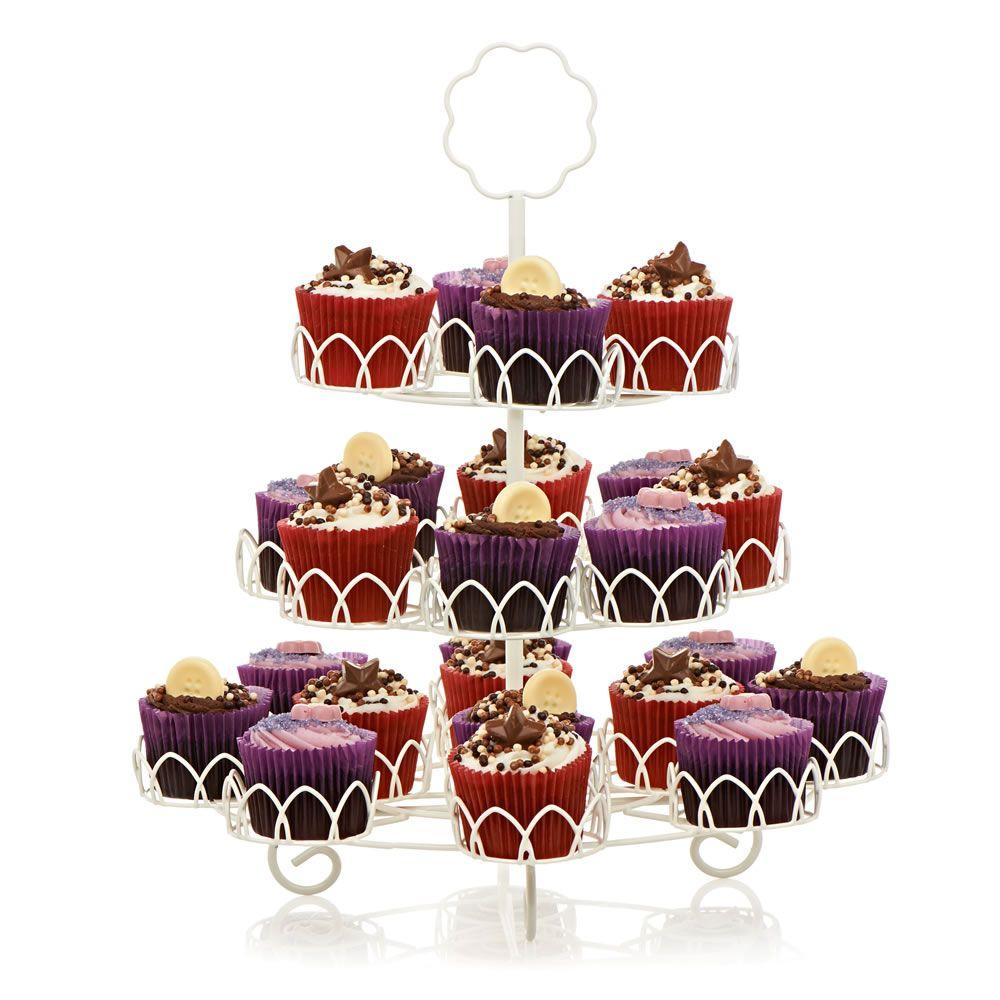 Wilko flower cupcake stand 3 tier at flower
