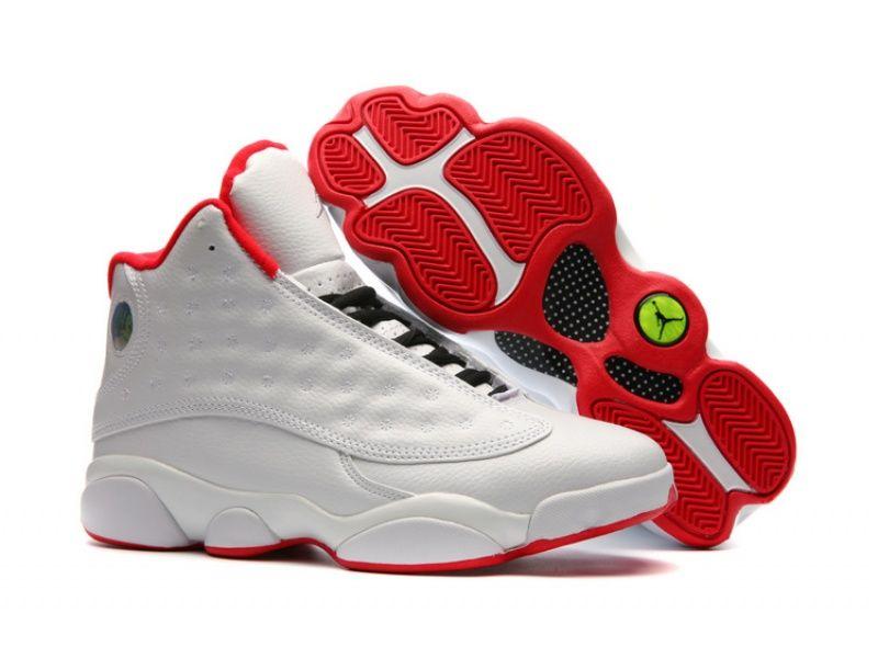 Nike Basket Jordan 13 Retro Ref. 414571 103 Blanc pas