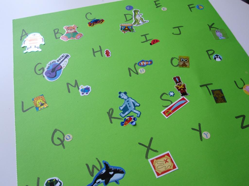 Sticker Alphabet Activity