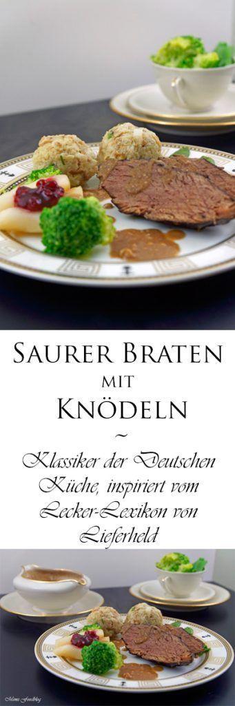 {Anzeige} Saurer Braten mit Knödeln ~ Klassiker der ...