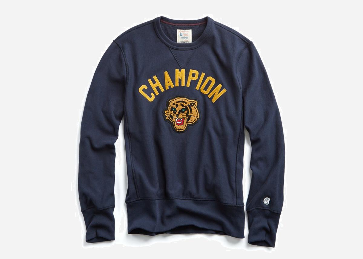20 Fall Style Essentials In Handsome Shades Of Blue Sweatshirts Tiger Sweatshirt Crew Neck Sweatshirt [ 857 x 1200 Pixel ]