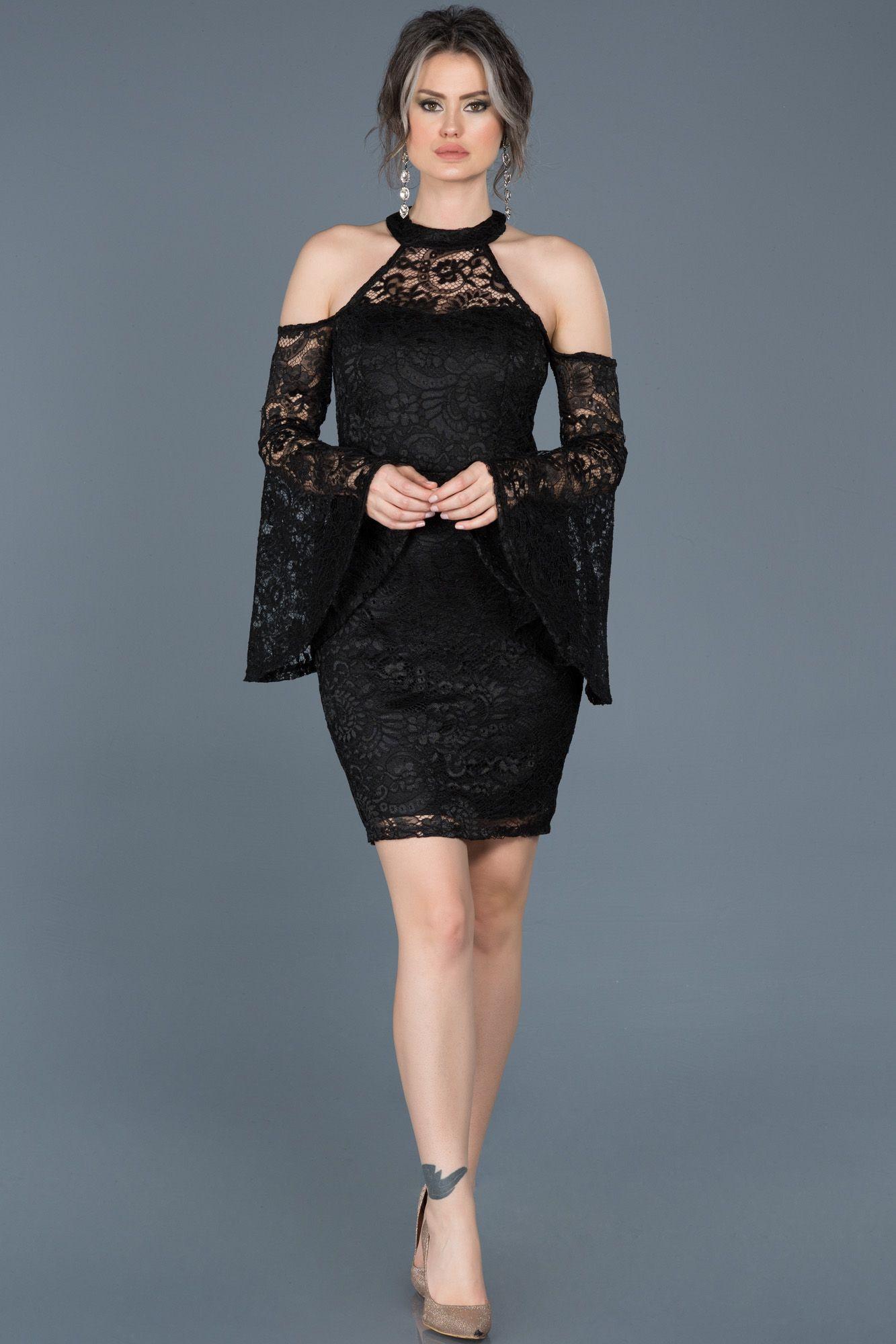 Photo of Shoulder Decorated Invitation Dress ABK375