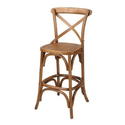 Classic Cross Back Bar Stool by Naturally Provinicial. Get