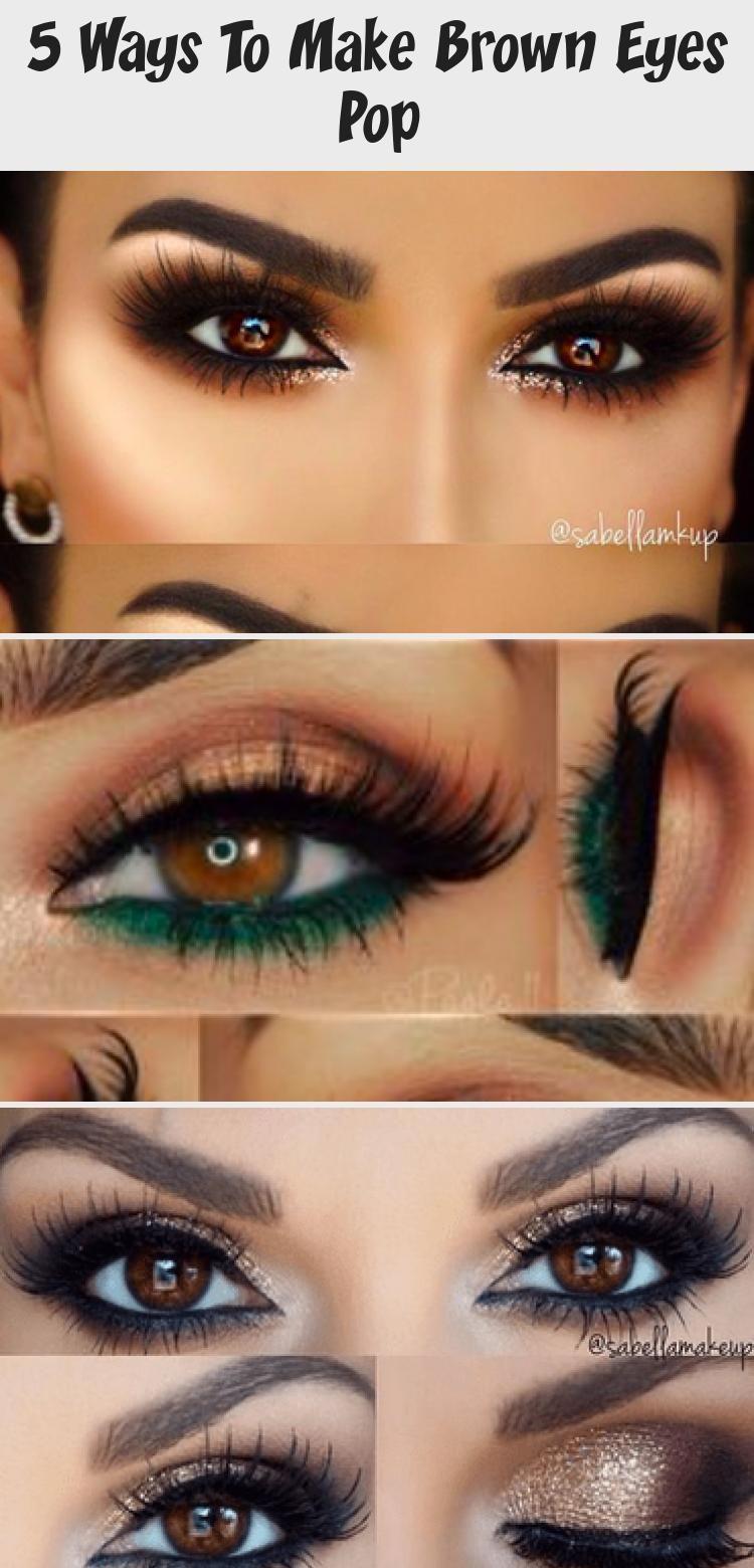 5 ways to make brown eyes pop makeup 2020
