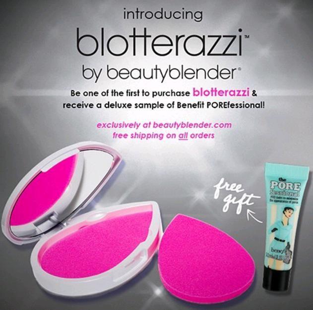 New Beauty Blender Blotterazzi + Deluxe Sample of Benefit The ...