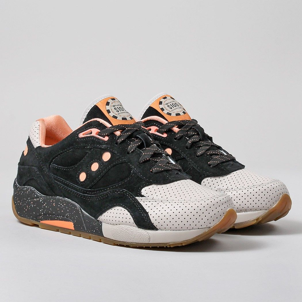 buy online 56c33 9778d Saucony X Feature G9 Shadow 6 Shoes - Black/Pink High Roller ...