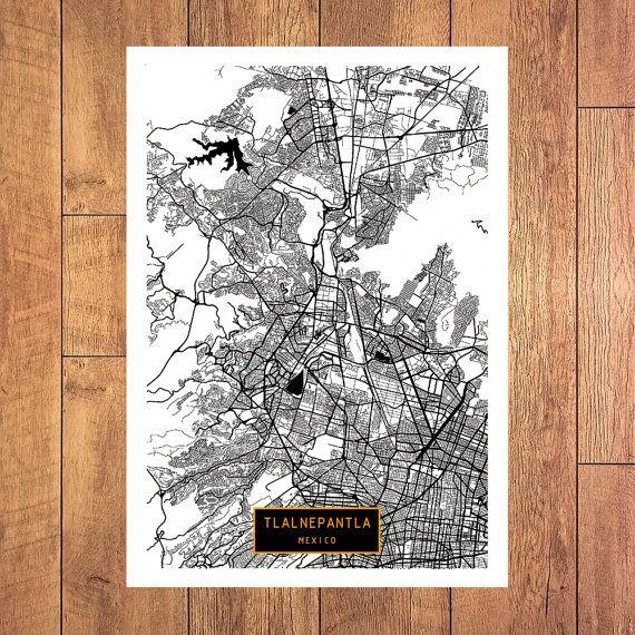 Tlalnepantla Mexico Map.Tlalnepantla Mexico Canvas Large Art City Map By Jacktravelmap
