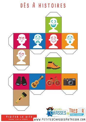 Hervorragend Jeu de story cube à imprimer gratuitement pour les enfants | 101  HG58