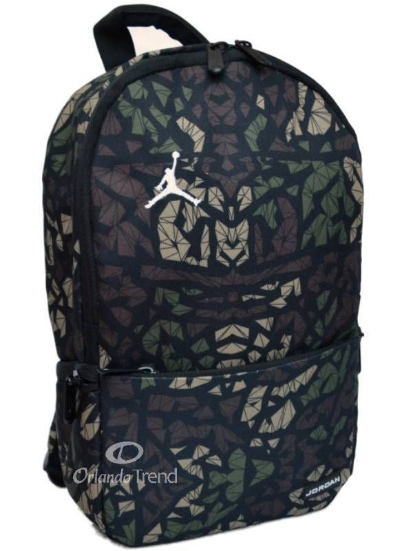 0e96e38255 Nike Air Jordan Backpack Toddler Preschool Boy Black Green Small Camo Bag   Nike  Backpack  Jordan  Basketball  OrlandoTrend