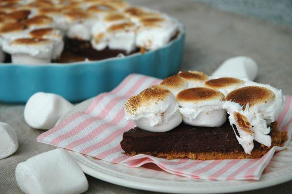 Nugatti/Nutella Pie + Salted Peanutbutter Crust!