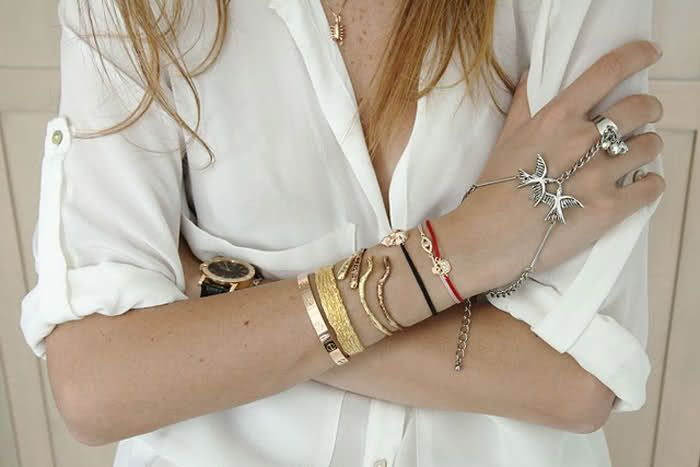 I want those bracelets, bird rings and the scorpio necklace. Who is this lucky girl?