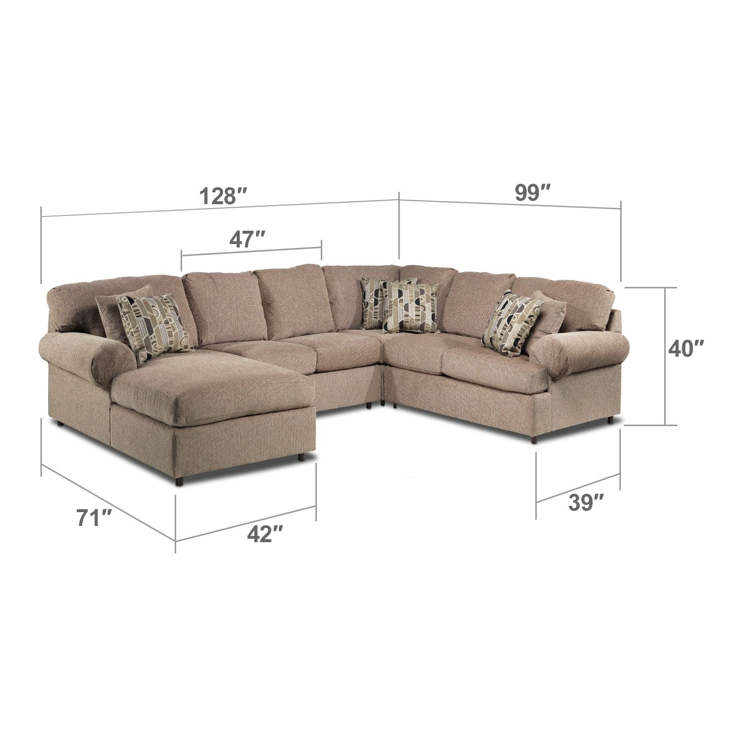 Living Room Furniture Trudy II 4 Pc. Sectional