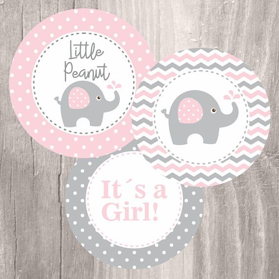 Gianna S Pink And Gray Elephant Nursery Reveal: Pink Elephant Baby Shower Printable Centerpieces, Pink And