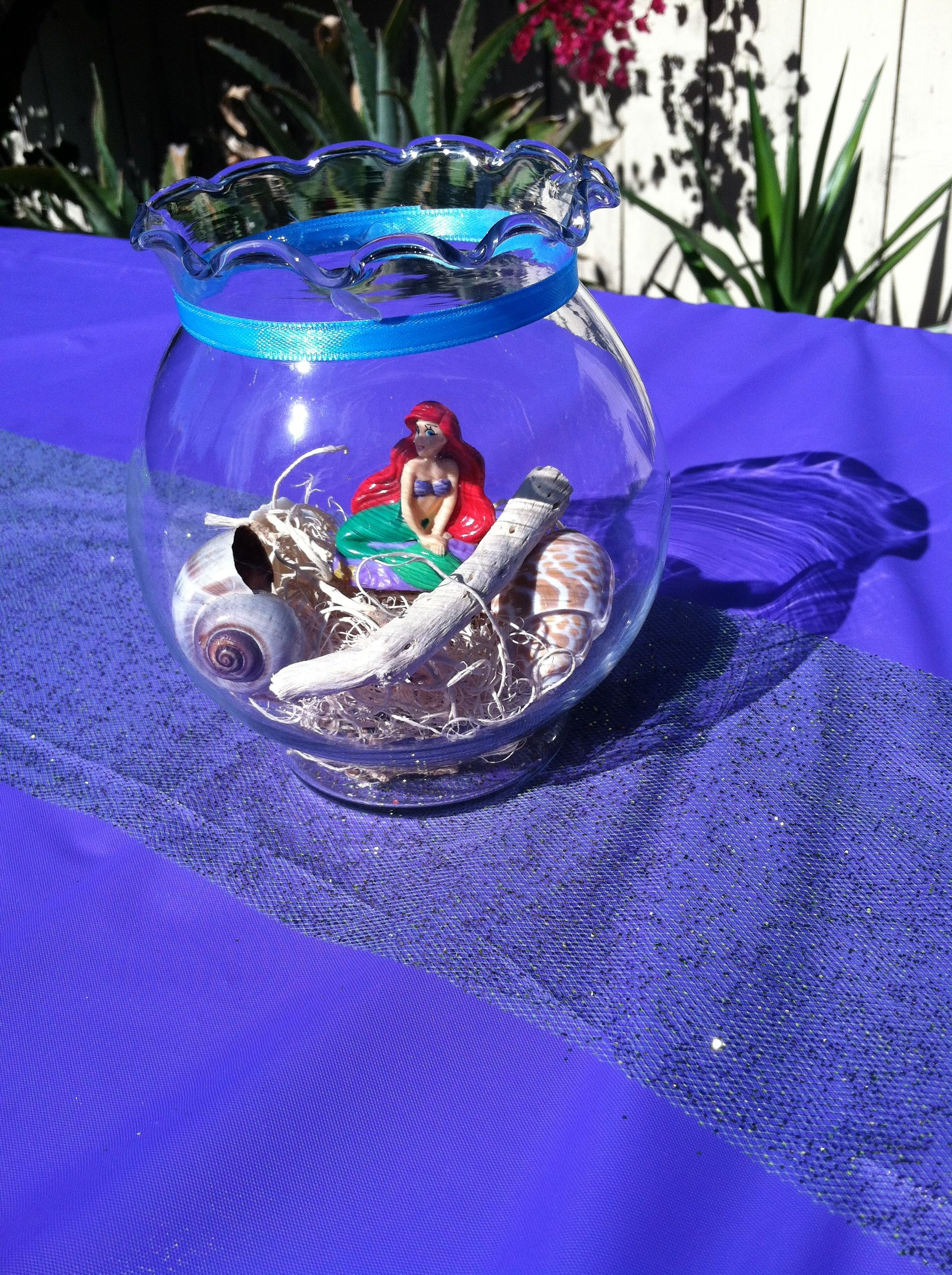 little mermaid centerpieces my kid 39 s parties pinterest centerpieces ocean party and bday. Black Bedroom Furniture Sets. Home Design Ideas