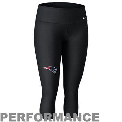 Nike New England Patriots Ladies Performance Capri Pants - Black ... 7f9b2967e