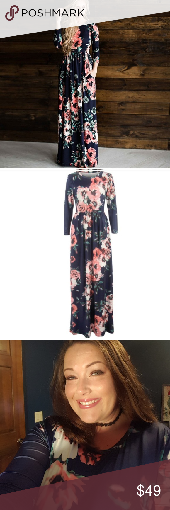 Gorgeous floral long sleeve maxi dress long sleeve maxi boutique