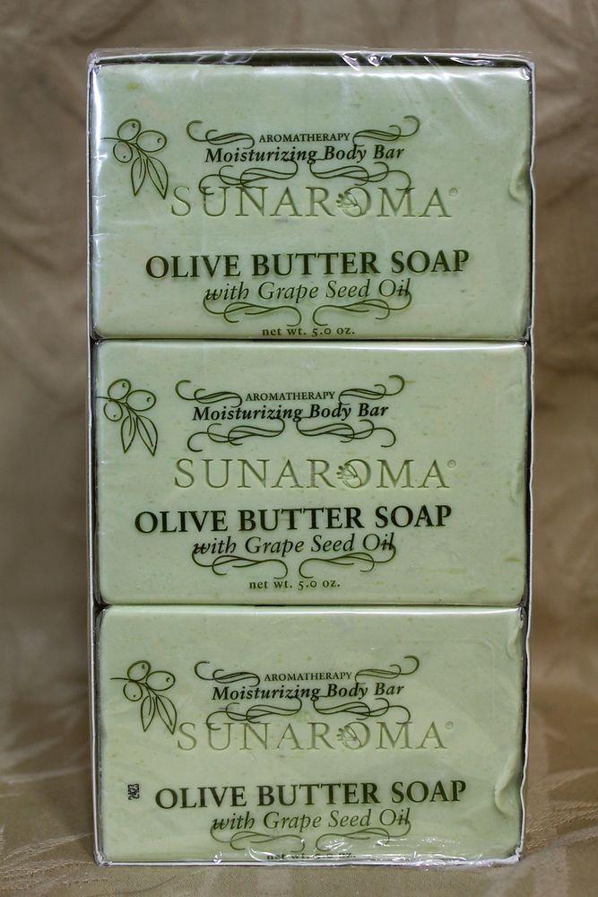 Set of 3 SunAroma Olive Butter Body Bar soap. 5 oz -MOISTURIZING #SUNAROMMA