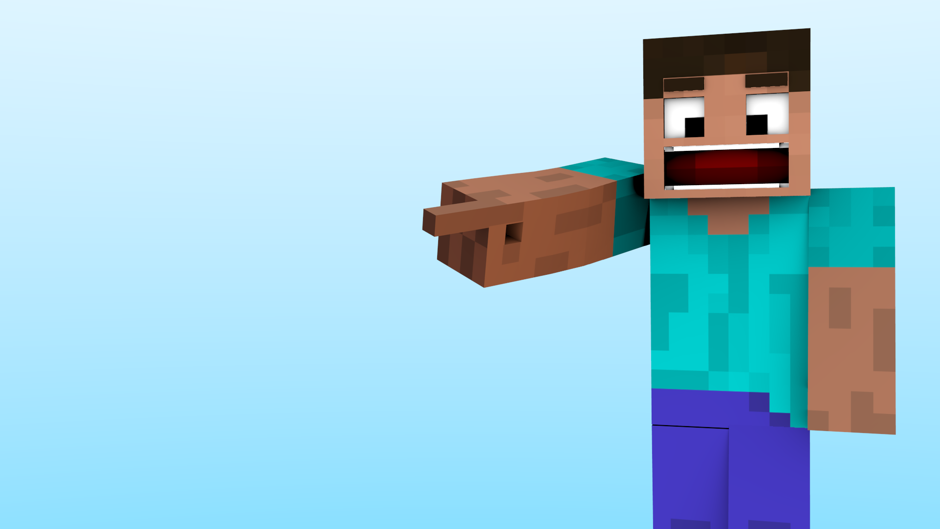 Falling Weed Wallpaper Minecraft Blender Rig Steve With Full Facial Expressions