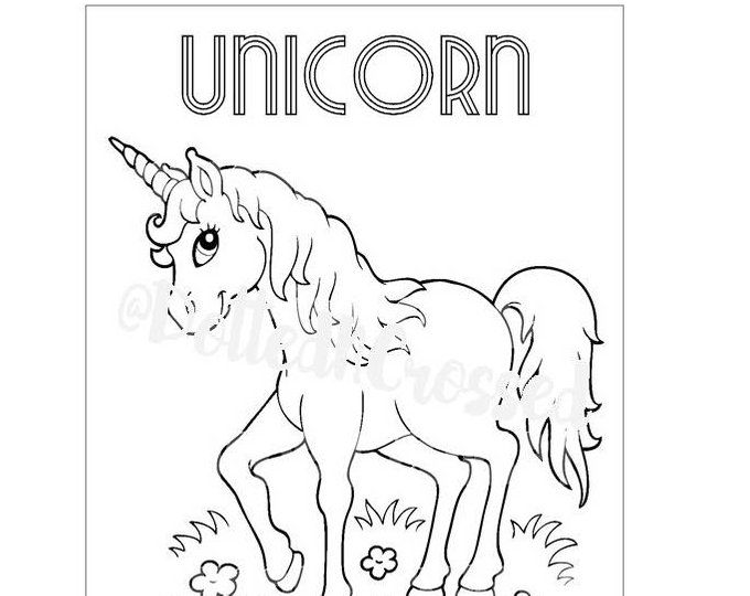 Unicorn Birthday Party Personalized Coloring Sheet Party ...