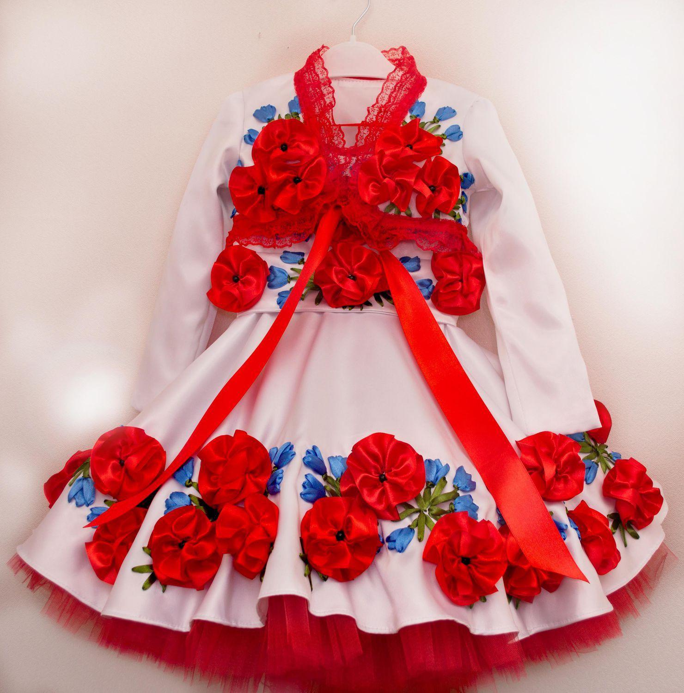 Купить или заказать Платье с болеро вышитое лентами в интернет-магазине на  Ярмарке Мастеров. 5f03c7de7f1ce