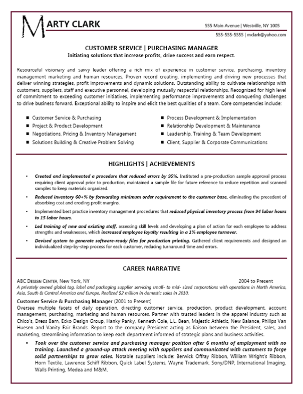 product manager resume summary statement