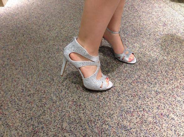 3f63714c5a7 Torn Between 2 Silver Sparkly Heels! Help me pick  ) - Weddingbee ...