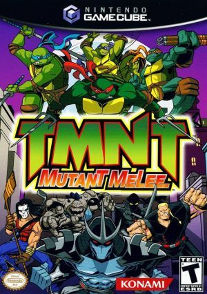 Tmnt Mutant Melee Gamecube Game Tmnt Teenage Mutant Ninja Turtles Gamecube Games