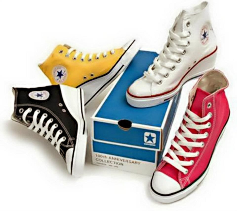 7625b3ad469 Multi-colored converse wedges.