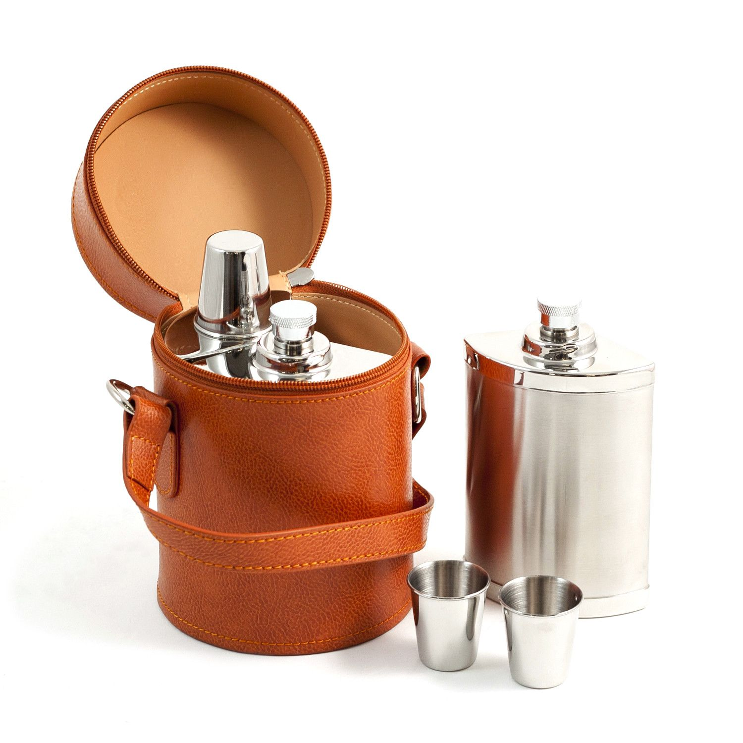 6 Piece Set // 3 Flasks w/ 3 Cups