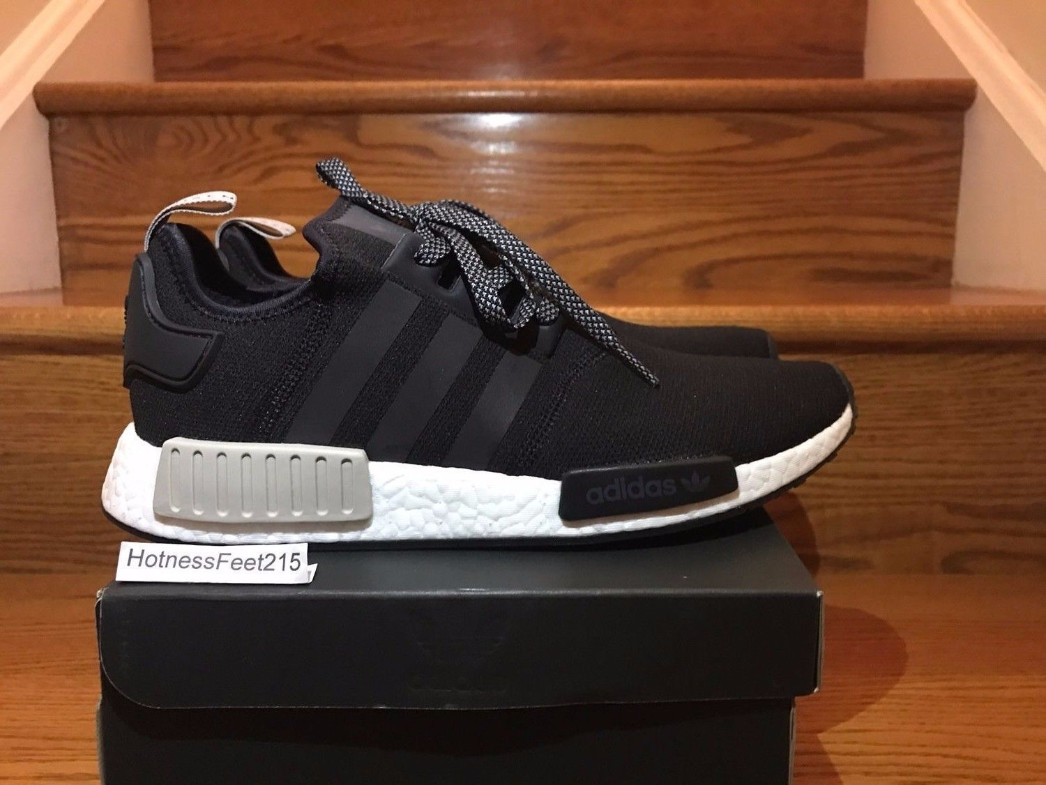 Adidas NMD R1 Runner Nomad Boost S76847 Black Tan White Men Size:8-13