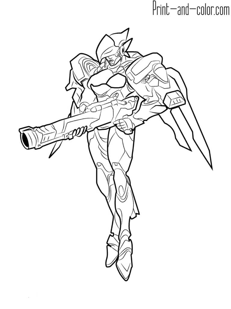 Overwatch Coloring Pages Print And Color Com In 2020 Cool Coloring Pages Coloring Pages Overwatch