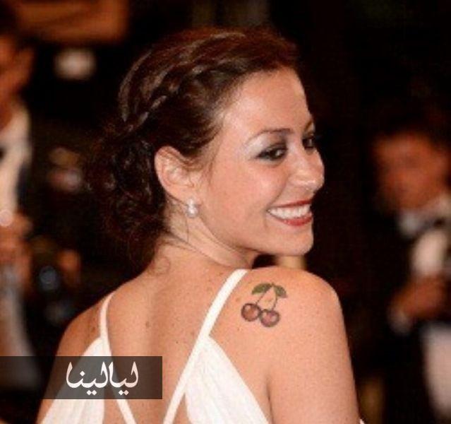 بالصور Tattoos أو أوشام منة شلبي لكل منها قصة وصورة Www Layalina Com Women Celebrities Fashion