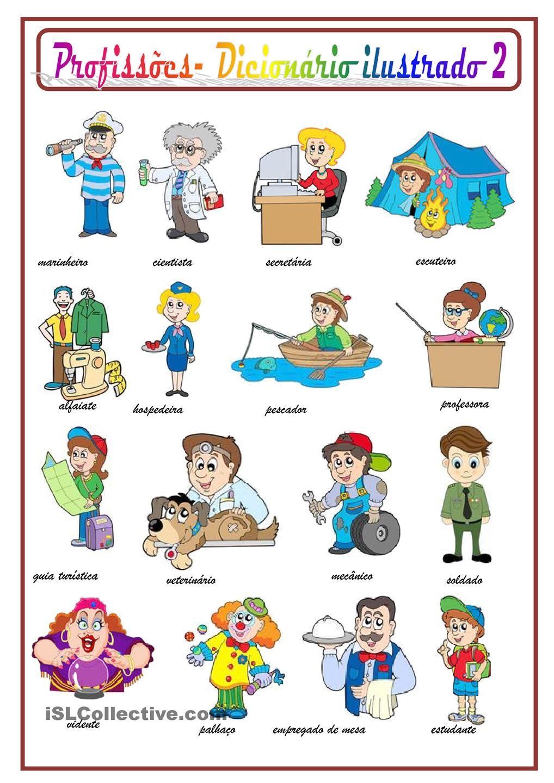 Profissoes 2 Desenhos De Profissoes Vocabulario Espanhol