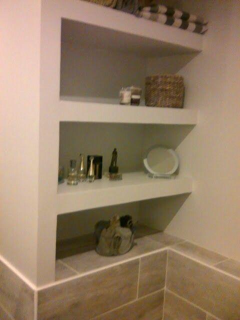 Étagère salle de bain en placo | Salle de bain, Etagere ...