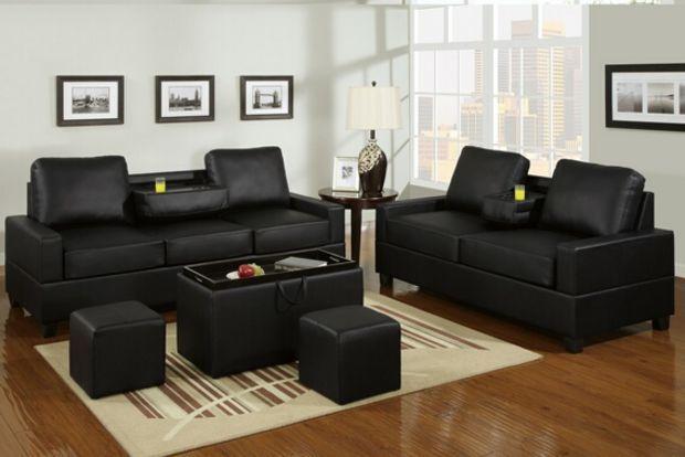 A M B Furniture Design Living Room Furniture Sofas And Sets Sofa Sets 2 Pc Black Leather Sofa Set Leather Sofa Living Room Living Room Sofa Set