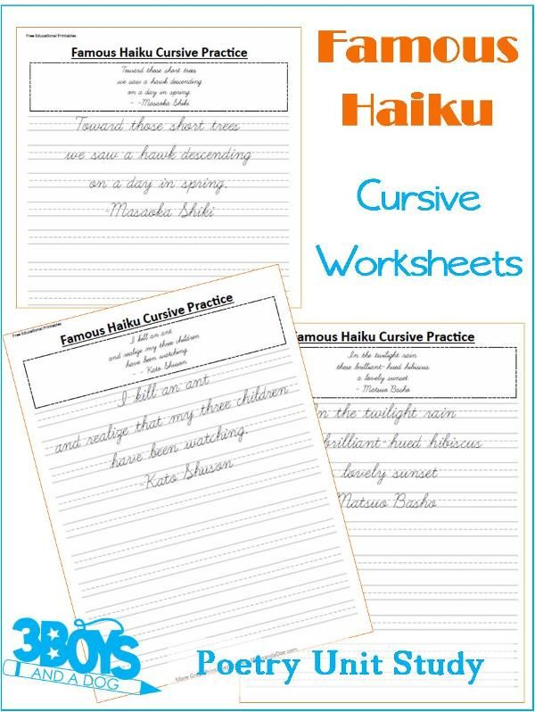 free poetry unit study resources general homeschooling cursive handwriting cursive. Black Bedroom Furniture Sets. Home Design Ideas