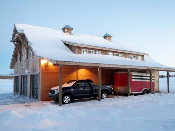 Barns with Apartment - Denali Gable Barn - Barn Pros | A girl can ...
