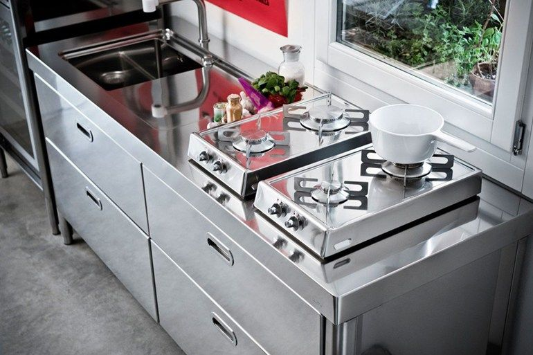 """LINEAR STAINLESS STEEL KITCHEN CUCINA 190 """"BLOW UP"""" 