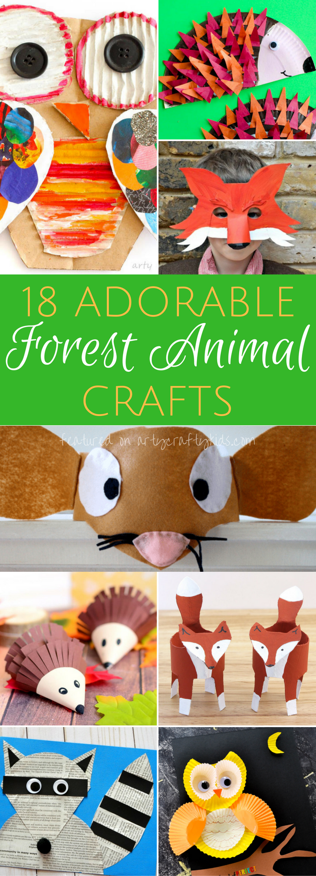 Adorable Forest Animal Crafts #animalcraftsforkids