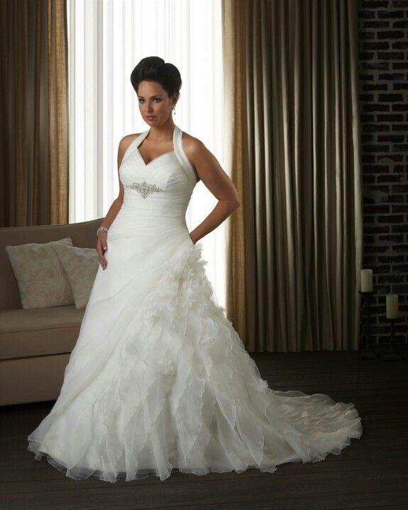 eca079d3468 Wedding dress plus size (hopefully im still not plus size by then but still  either way) beautiful dress!