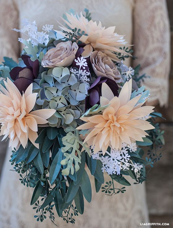 diy rustic paper bridal bouquet fleurs plantes pinterest fleurs en papier fleur et mariages. Black Bedroom Furniture Sets. Home Design Ideas
