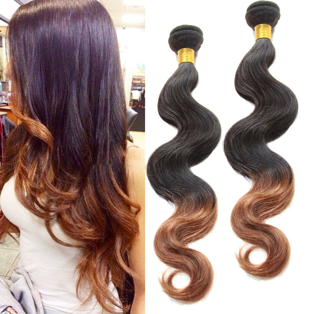 100 Ombre Human Hair Extensions 2 Tone 1b30 Body Wave50gpc