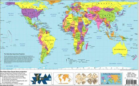 The hobo dyer equal area projection world map by inc odt http explore cool stuff world map printable and more gumiabroncs Images