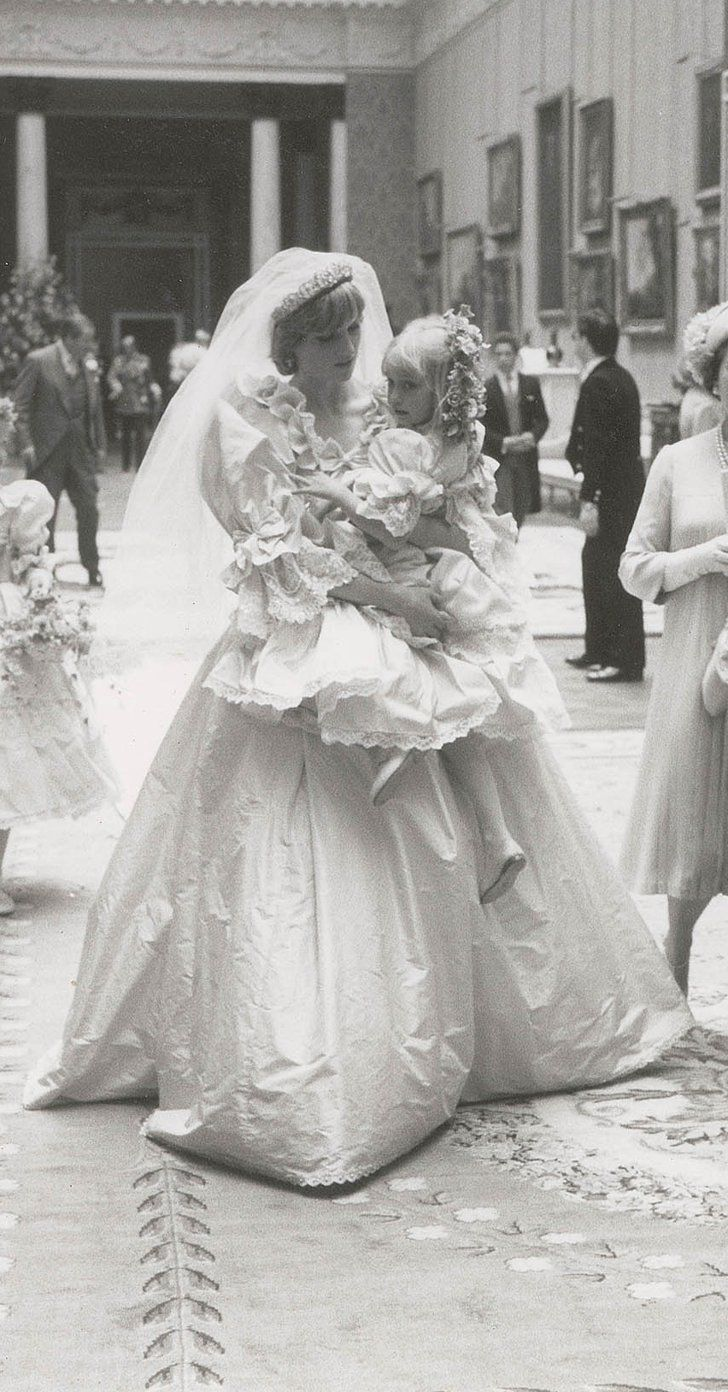 These Unseen Photos of Princess Diana's Wedding Dress Are