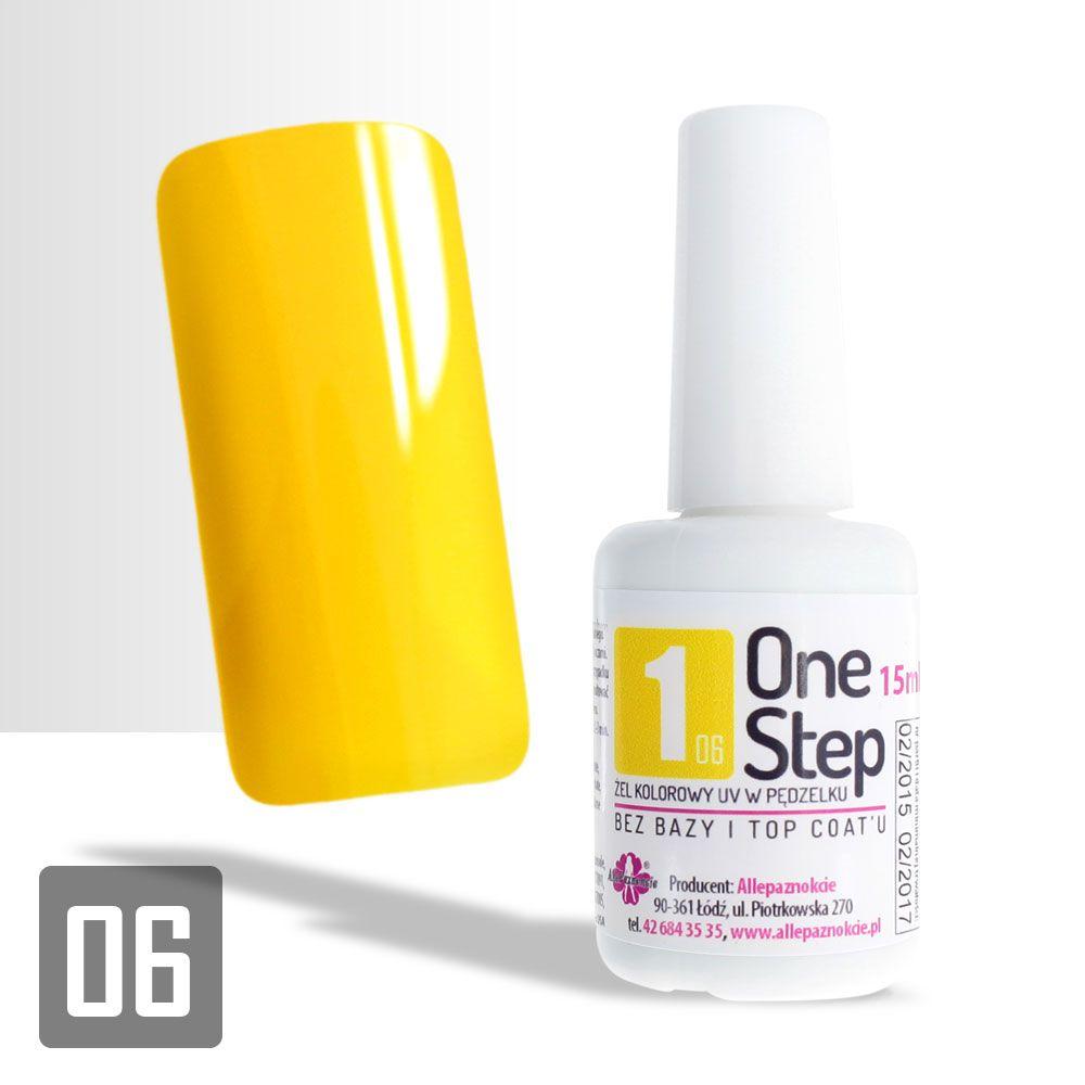 """Allepaznokcie """"One Step"""" Color Gel UV/LED 3in1 #06"""